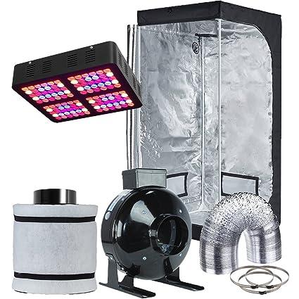 Hydro Plus LED Light Grow Tent Complete Kit LED 600W Grow Light + 4u0026quot; Fan  sc 1 st  Amazon.com & Amazon.com : Hydro Plus LED Light Grow Tent Complete Kit LED 600W ...
