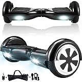 Magic Vida Skateboard Électrique Noir 6.5 Pouces avec LED Puissance 700W Auto-Équilibrage pour Enfants et Adultes Gyropode de Bonne qualité,Sac de Transport,Télécommande offerts