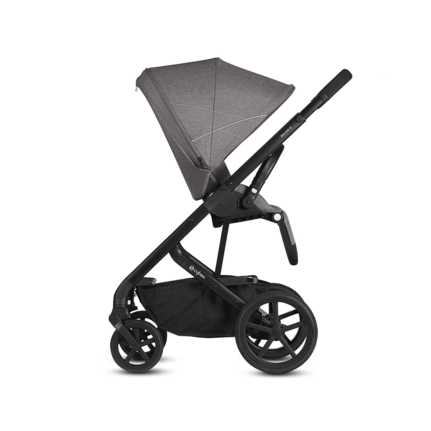 Manhattan Grey//Silver Frame Cybex Balios S Denim Collection Stroller