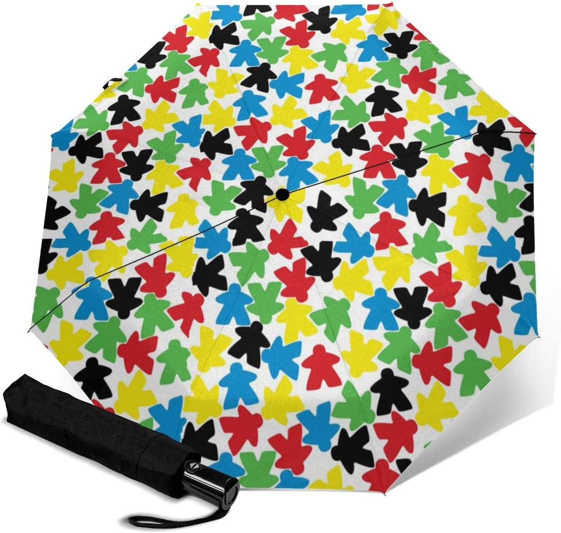 Canadian Moose Animals Pattern Anti-snow And Rainproof Folding Travel Out UV Protection Automatic Tri-fold Umbrella