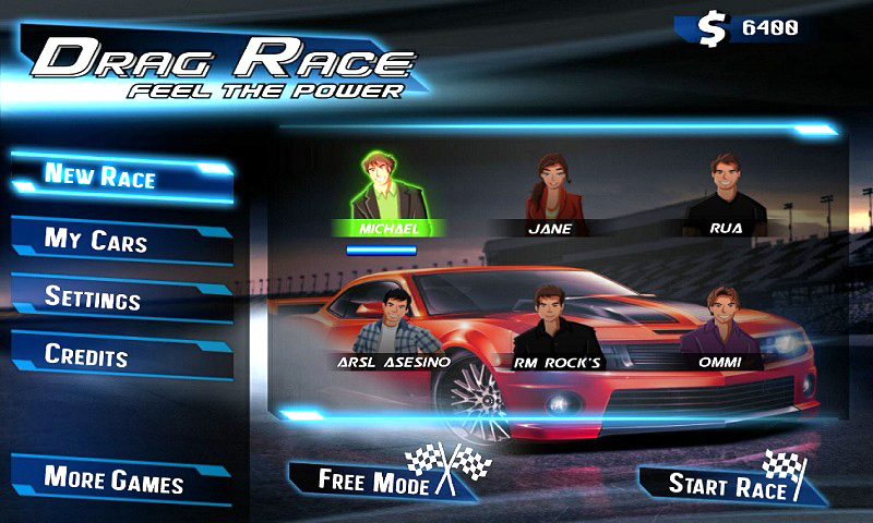 samsung champ racing game free