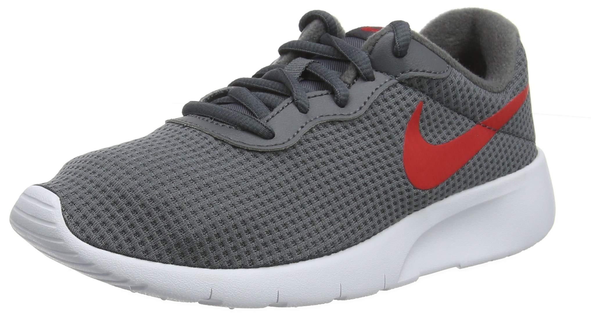 Nike Kids Tanjun (GS) Dark Grey University RED White Size 4