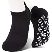 HEETA Non Slip Yoga Socks with Grips for Women Men, Perfect for Hospitals, Yoga, Pilates, Ballet, Dance and Fitness