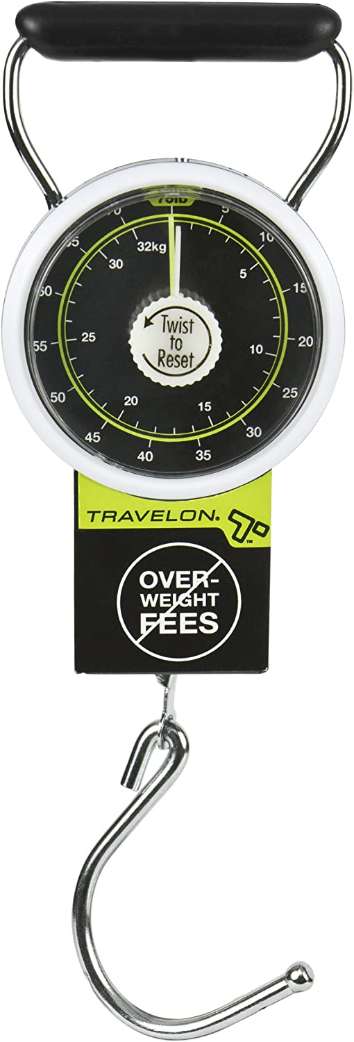 | Travelon Stop & Lock Luggage Scale, Black, One Size | Luggage Scales