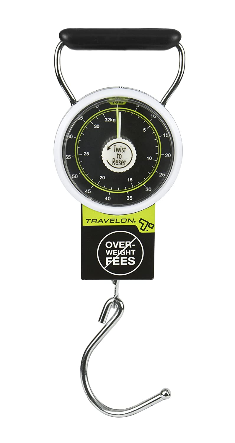 Black Travelon Stop /& Lock Luggage Scale One Size