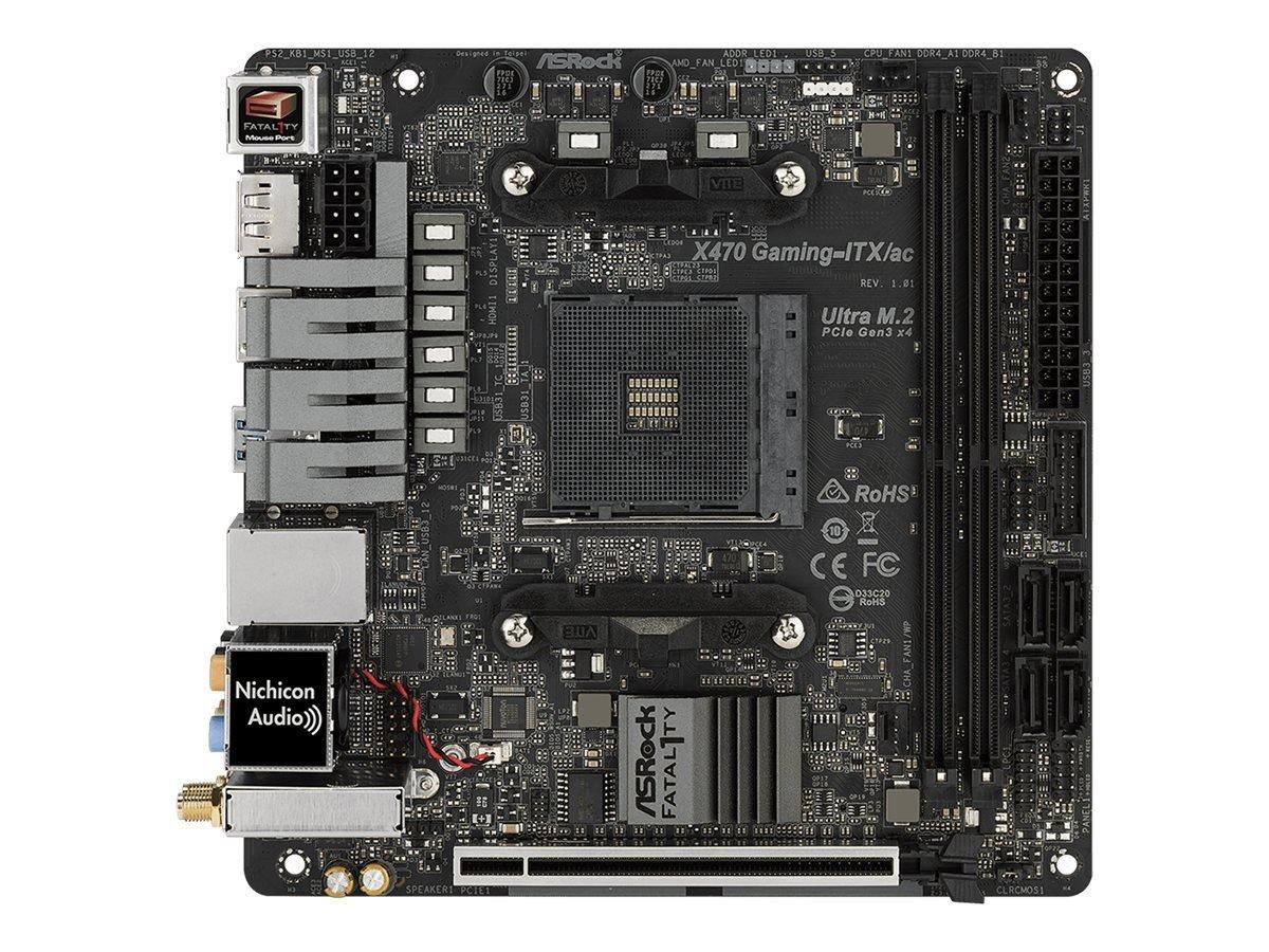ASRock Rack ASROCK AMD X470Chip Set Mini–ITX Motherboard Fatal1ty X470Gaming–ITX/AC