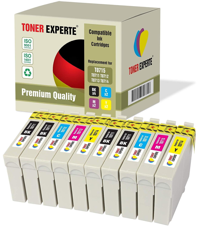10 XL TONER EXPERTE® Compatibles T0715 Cartuchos de Tinta ...