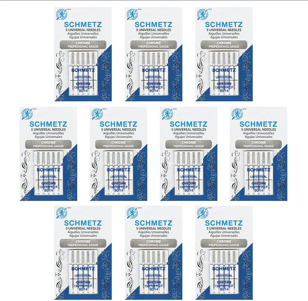 Size 90//14 SCHMETZ Chrome Universal Household Sewing Machine Needles Bulk