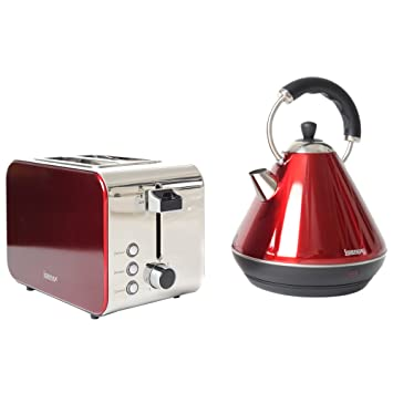 959b5985bbc6 Image Unavailable. Image not available for. Colour: Igenix IGPK12 Breakfast  Set, Pyramid Kettle and 2 Slice Toaster ...