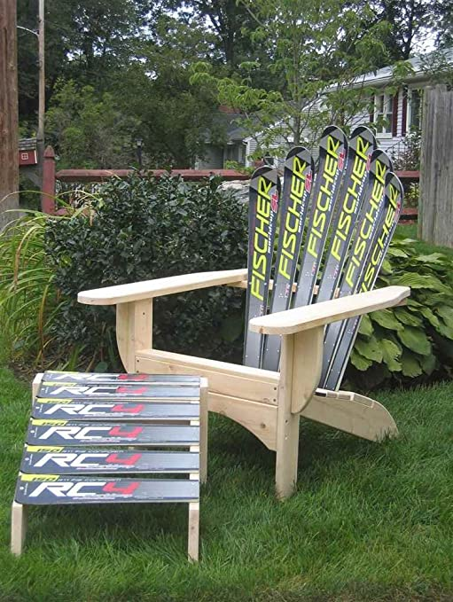 Amazon.com  Snow Ski Adirondack Chair u0026 Ottoman (Elan Redman)  Lawn Chairs  Garden u0026 Outdoor & Amazon.com : Snow Ski Adirondack Chair u0026 Ottoman (Elan Redman ...