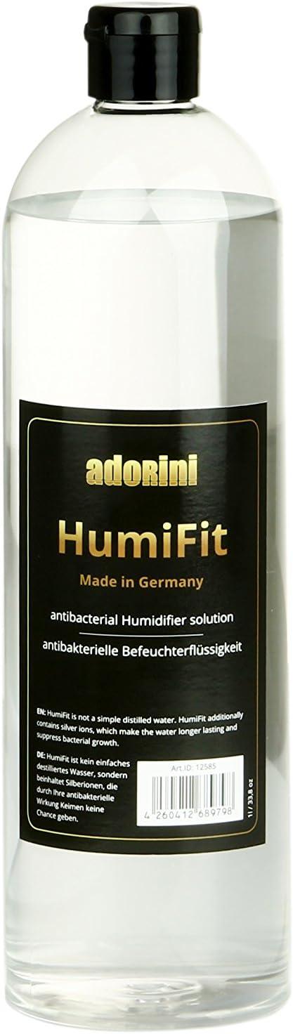 ADORINI HumiFit - Líquido humidificador - 1 litro, agua destilada/iones de plata