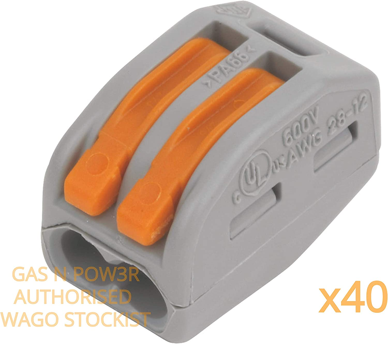 Wago risparmia tempo e denaro con i nostri morsetti di installazione e connettori Serie 221-222 M Box L32 connettori elettrici da Gas N Pow3r