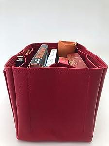 c47ba3cb3fb9 Purse Organizer Insert for LV Graceful Handbag - Fits inside Louis Vuitton  Graceful MM bag - Deluxe Leather (Red). Purse Organizer Insert for LV  Graceful ...