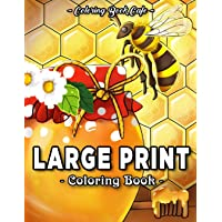 Large Print Coloring Book: An Adult Coloring Book Featuring Fun, Easy and Relaxing Designs: 2