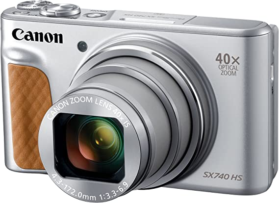 Canon PowerShot SX740 Digital Camera w/40x Optical Zoom & 3 Inch Tilt LCD - 4K VIdeo