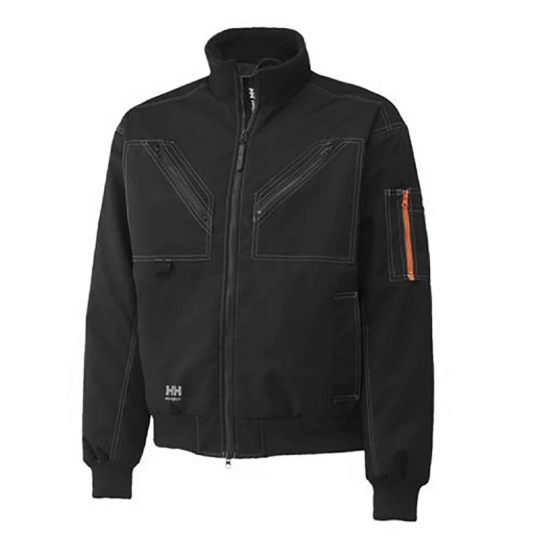 (ヘリーハンセン) Helly Hansen バーグホルム あったか 作業用ジャケット 作業服アウター 作業着ジャンパー 上着 アウトドアコート ワークウェア 男性用 メンズ 冬 B005CEX6SM S ブラック ブラック S