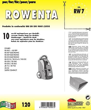 Elettrocasa RW 4 Sacchetti Carta Ricambio Confezione da 5 Pezzi