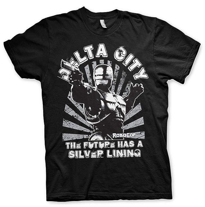 121738cbc Robocop Delta City Peter Weller Alex Murphy Official Tee T-Shirt Mens Unisex  (Small