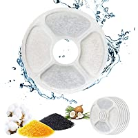 QIUQIU Fountain Filter, Fountain Filter Triple Action for Cat Fountain Replacement with High-Intensity Cotton, Charcoal…