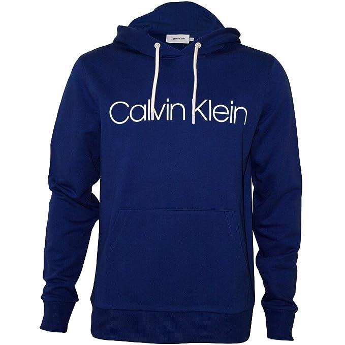 Calvin Klein Sudadera con Capucha con Logo Hombres, Azul Real: Amazon.es: Ropa y accesorios