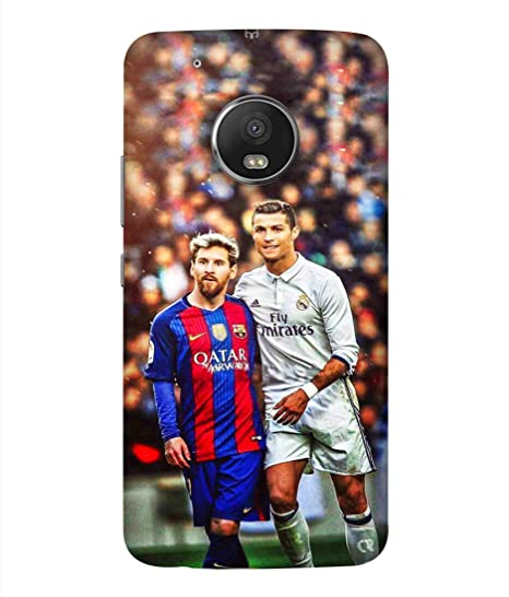 b63988c117f Motorola Moto G5 Plus Lionel Messi And Ronaldo Image Printed Back Cover  Hybrid Strong Polycarbonate Hard