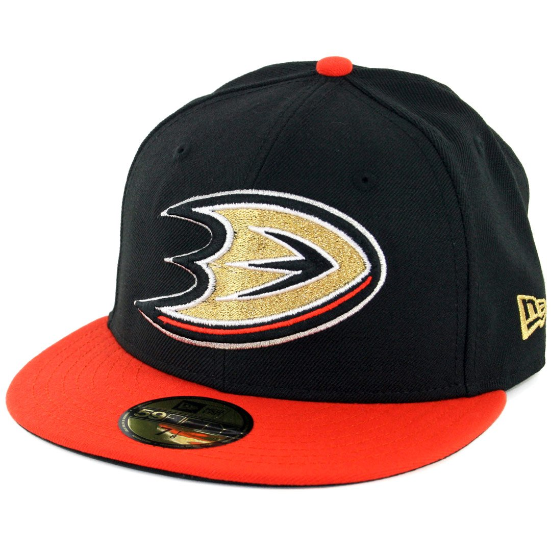 f70d329af80 New Era 59Fifty Anaheim Mighty Ducks Fitted Hat (Black Orange) Men s NHL Cap