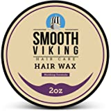 Hair Wax for Men – Hair Styling Formula for Modern Styling – Workable & Pliable Product for Added Texture & Shine – Works on All Hair Types, Styles & Lengths – 2 OZ – Smooth Viking
