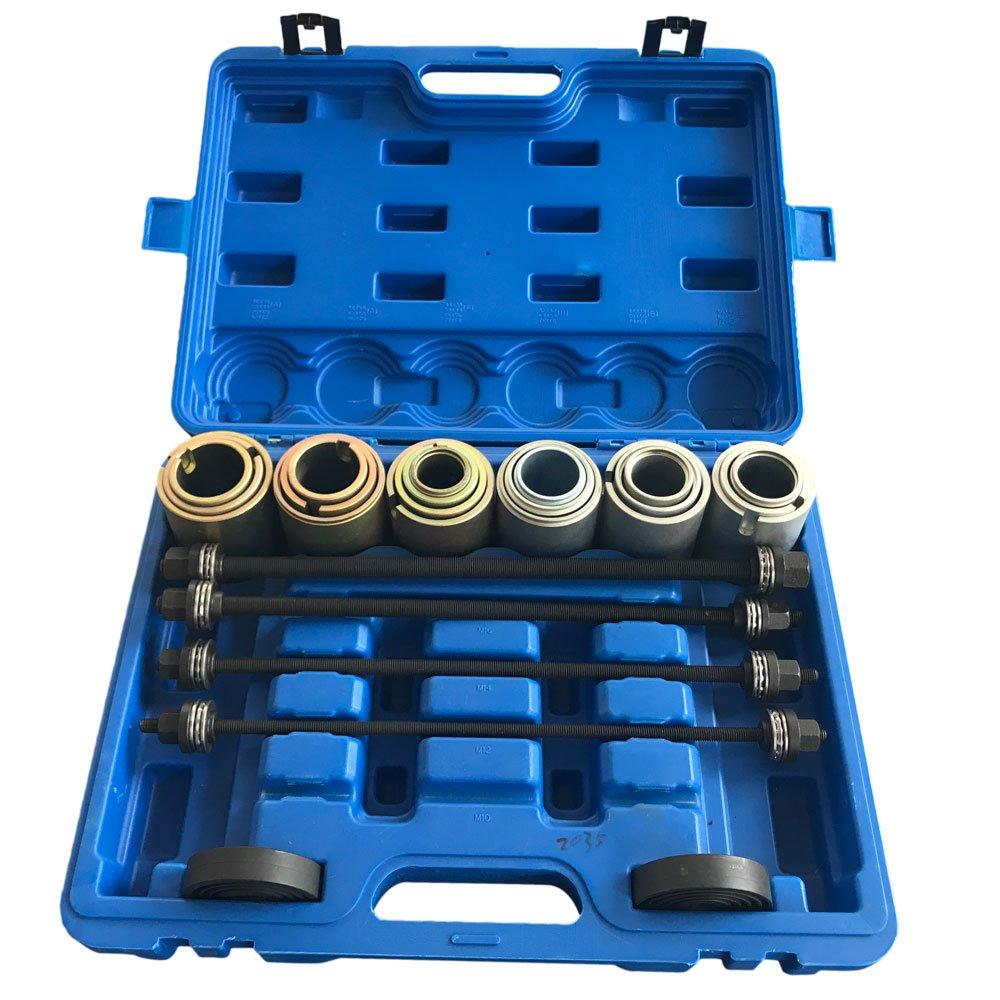 SUNROAD 27pcs Universal Press and Pull Sleeve Kit Bearing Seal Bush Removal Insertion Sleeve Tool Set w/Case by Qp-SUNROAD (Image #1)