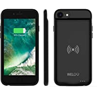 WELUV Wireless Battery Case for iPhone SE2 SE 2020 8 7 6s 6 Portable 3000mAh Rechargeable External Protective Qi…