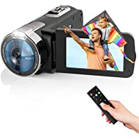 Video Camera Camcorder 2021 New Upgraded 1080P FHD 16X Zoom Digital Camera Recorder for YouTube 3.0 Inch Touch Screen…