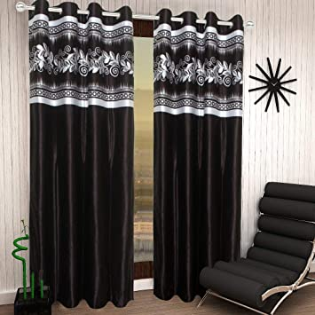 Buy Shree Home Decor Jute Cotton Designer Home Decor Curtains Pack Of 2 For Door Online At Low Prices In India Amazon In