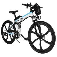 ZEARO VTT Pliable Homme Femme Electrique 26 Pouces Tout Suspendu e Bike Electrique e Velo Pliant Adulte 250W MTB 26