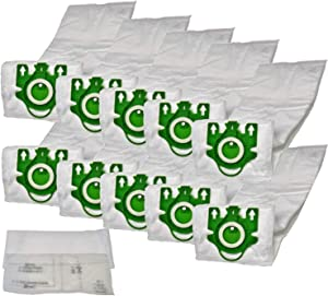 ZVac Miele U Vacuum Bags - Premium Replacement for Miele Parts 7282050 - Fits: Type U1, S7, S7000-S7999 Series - Hypoallergenic Cloth - Compatible with Miele Upright Vacuums - 10-Pack & 2 Filters