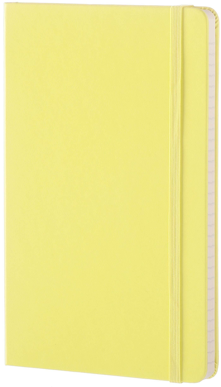 Moleskine Classic Notebook, Large, Ruled, Citron Yellow, Hard Cover (8051272893632) by Moleskine