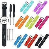 Garmin Forerunner Bands, BeneStellar Replacement Sport Colourful Bands for Garmin Forerunner 230 / 235 / 630 / 220 / 620 / 735 GPS Golf Watch (8-Pack)