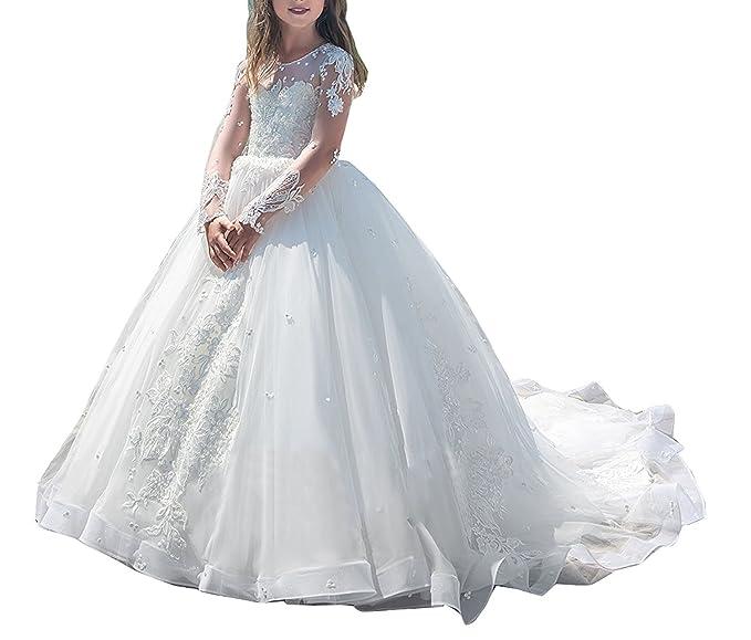 Amazon.com: yeoyaw vestido de niña de boda dama de honor de ...