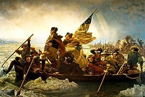 George Washington Crossing Delaware River 1851 Emanuel Leutze Oil Canvas Painting Cool Wall Decor Art Print Poster 36x24