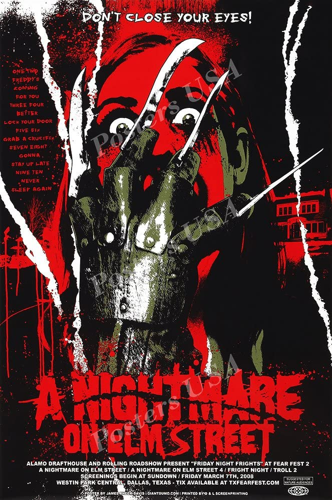 "PremiumPrints - A Nightmare On Elm Street Movie Poster - XFIL803 Premium Canvas 11"" x 17"" (28 cm x 43 cm)"