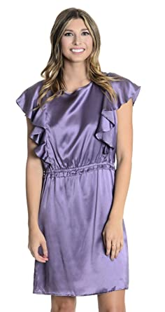 Juliette Longuet Womens Santorini Ruffle Dress in Grappe Jame, ...