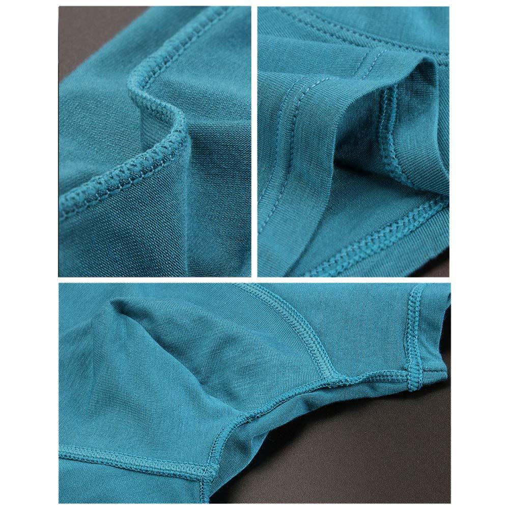 4PC Elastic Knickers Underwear Panties Shorts Pouch Soft Cotton Underpants Dempuss Mens Boxer Briefs