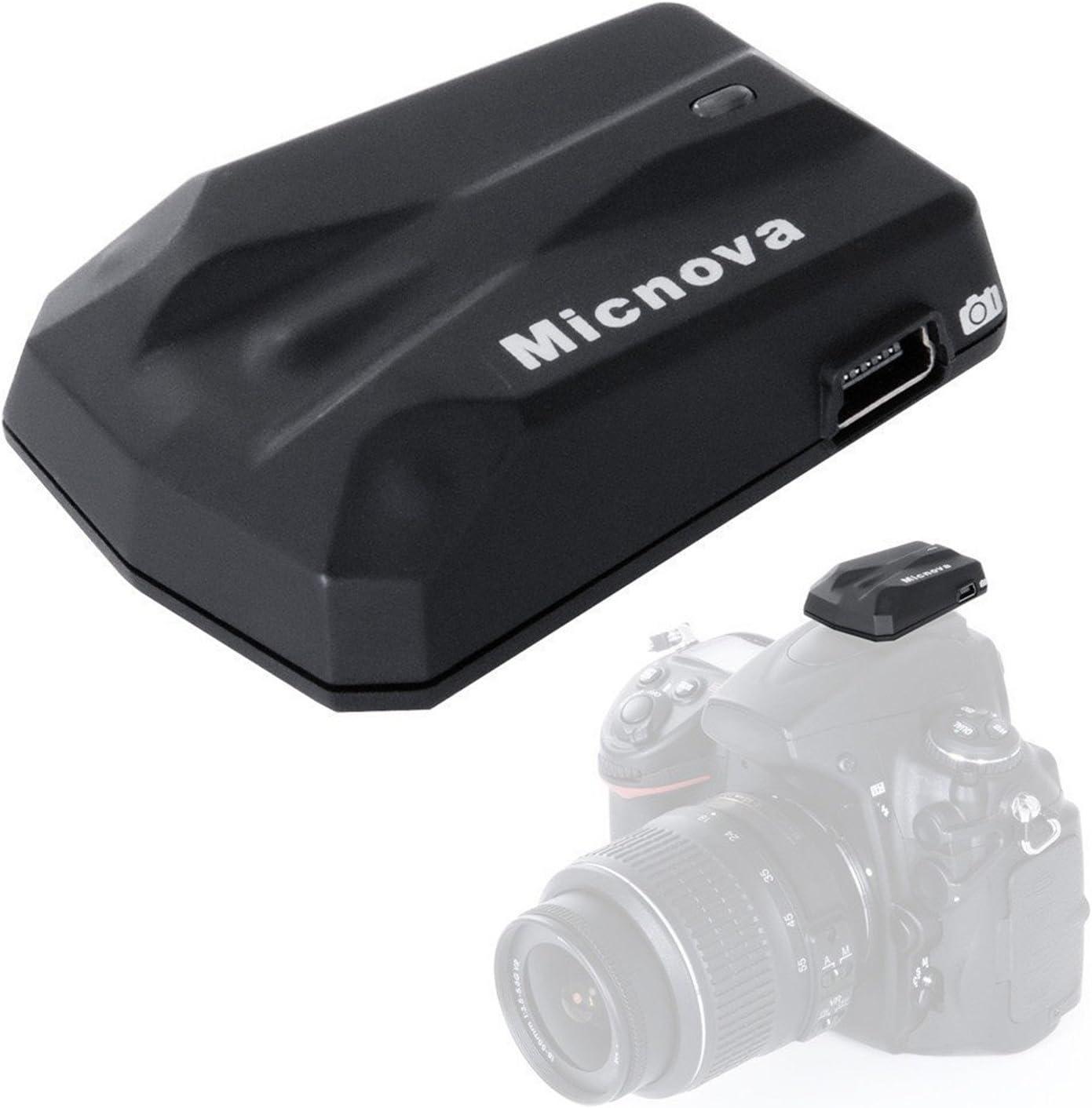 Micnova GPS-N Plus - Receptor GPS de Alta precisión para cámara Nikon D3100, D3200, D3300, D5000, D5100, D5200, D5300, D7000, D7100, D600, D610, D800, D810, D700, D750, D90, D4, D3, etc.