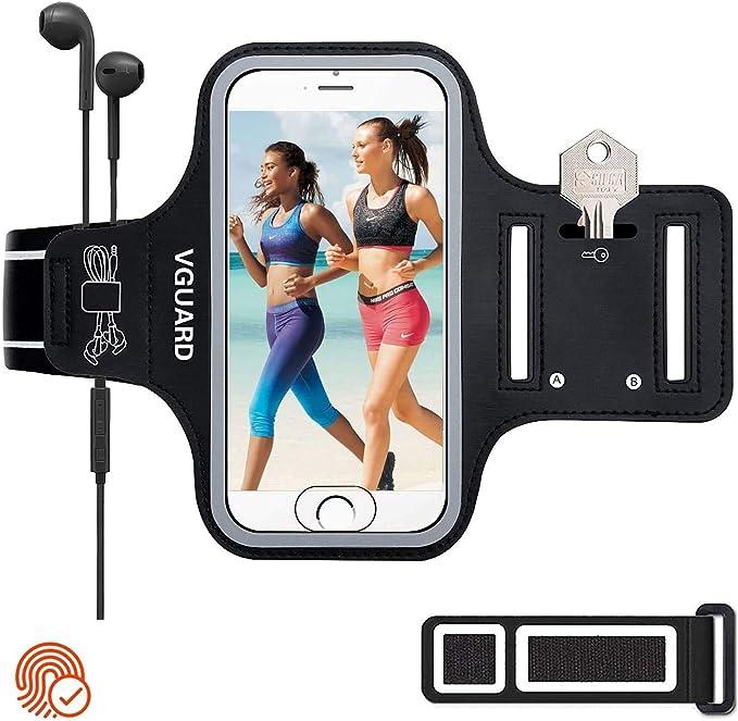 VGUARD Brazalete Deportivo para Correr, 6.5 Pulgadas Brazalete Móvil Deportivo con Banda Reflectante para iPhone 11/ Pro/Pro MAX, Galaxy S9/S8 Plus,Huawei P20 Lite, etc - (Negro): Amazon.es: Electrónica