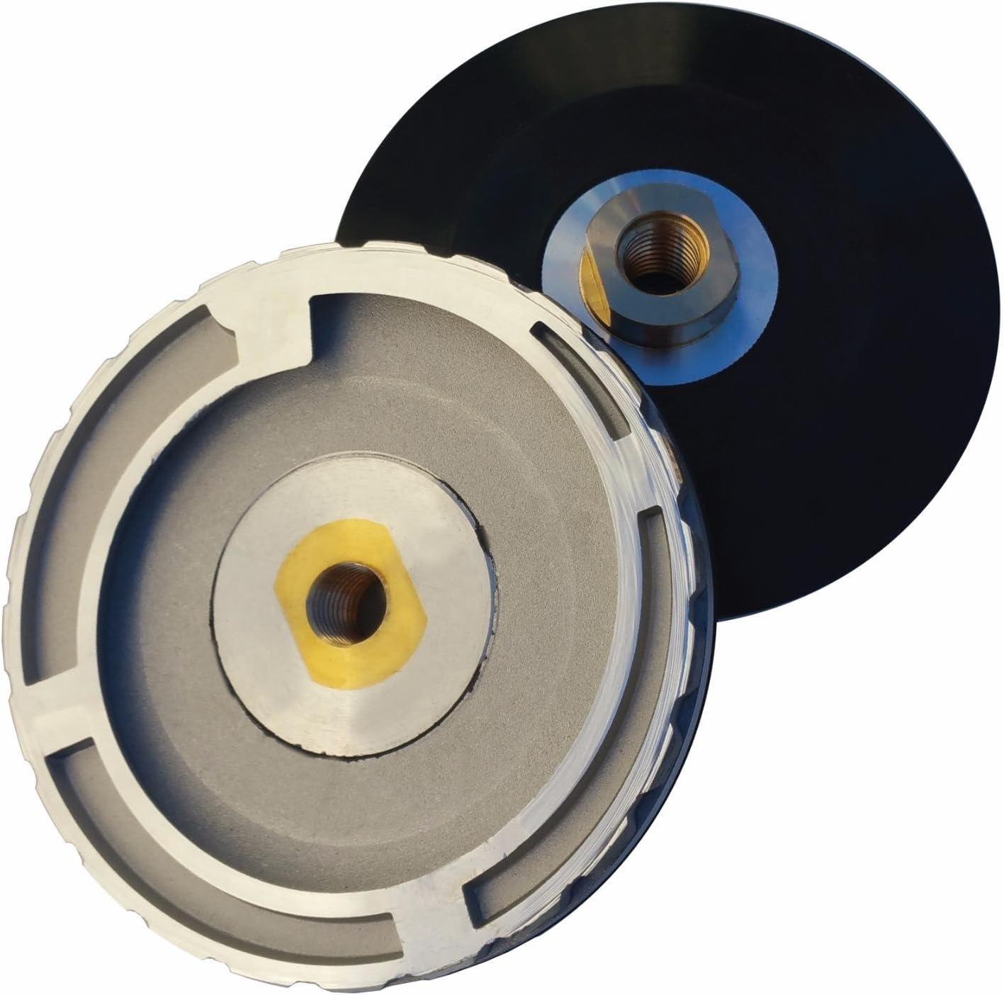 Stadea RBP101P Rubber Backing Pad Extra Flexible Backer Pad for Edges Arbor 5//8 11 Shop N Save Diamond Tools Arbor 5//8 11 Tight Corner Polishing Tight Corner Polishing