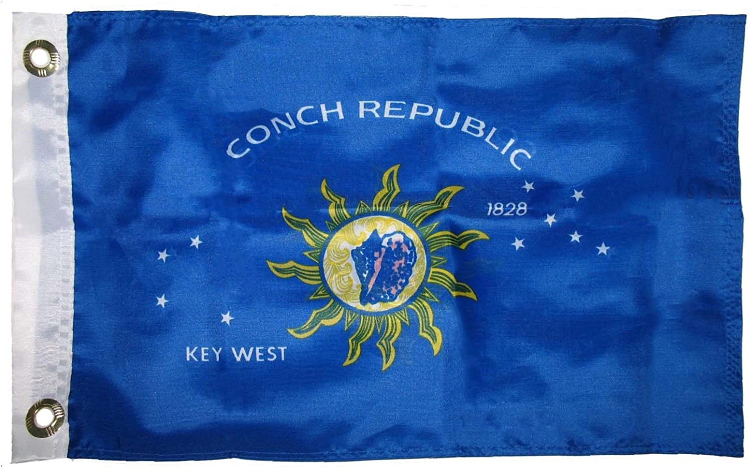"""12/""""X18/"""" KEY WEST CONCH REPUBLIC FLAG DOUBLE SIDED BOAT//MOTORCYCLE"""