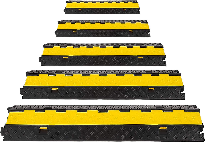 Bisujerro 5X2 Canales Pasacables de Suelo para Cable 30T PasacablesSuelo Protector de Goma para Cables del Suelo con Caucho y PVC (5X2 Canales): Amazon.es: Bricolaje y herramientas