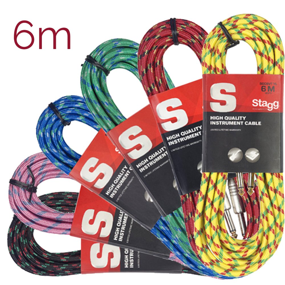 6 m, tweed Cable jack Stagg SGC6VT RD