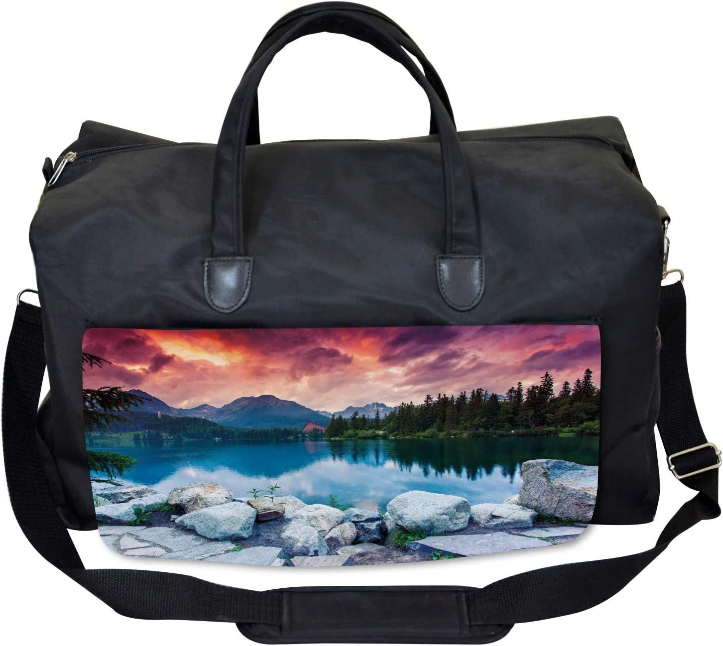 Ambesonne Outdoor Gym Bag National Park Slovakia Large Weekender Carry-on