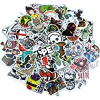 AMZandiniu 200PCS Waterproof Laptop Stickers PVC Dumb Skull Skateboard Stickers for Teens Decal Graffiti Car Bumper Bike…