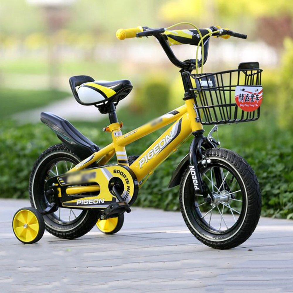 YANGFEI 子ども用自転車 男の子、女の子用キッドバイク、12インチ、14インチ、16インチ、18インチ、85%組み立て、5色の子供用ギフト 212歳 B07DWRRM6H 18 inch|イエロー いえろ゜ イエロー いえろ゜ 18 inch
