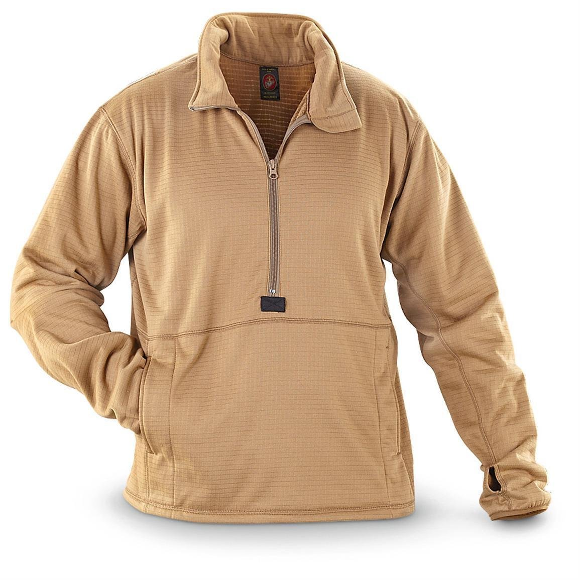 Peckham Military Polartec Grid Fleece Pullover Coyote Brown